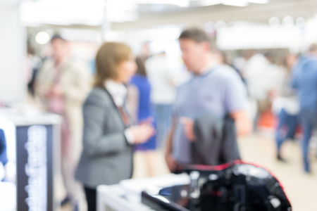 Blured image of businesspeople socializing and networking at business and entrepreneurship meeting. Stock Photo - 122325635