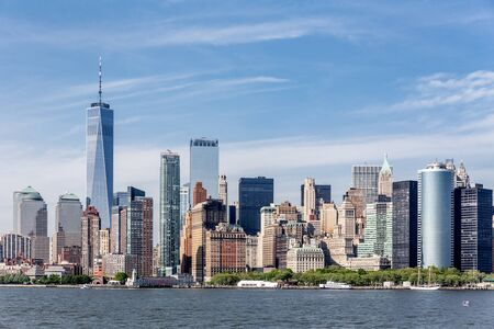 Panoramic view of Lower Manhattan, New York City, USA. Stock Photo