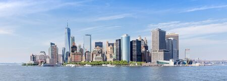 Panoramic view of Lower Manhattan, New York City, USA. 版權商用圖片