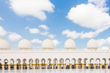 Sheikh Zayed Grand Mosque in Abu Dhabi, the capital city of United Arab Emirates. Stock Photo