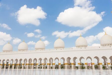 Sheikh Zayed Grand Mosque in Abu Dhabi, the capital city of United Arab Emirates. Archivio Fotografico
