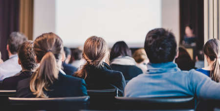 Audience in the lecture hall. Stockfoto