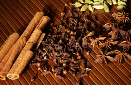 Selection of Exotic Spices Stock Photo