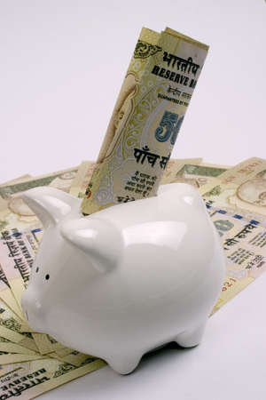 indian money: saving money Stock Photo