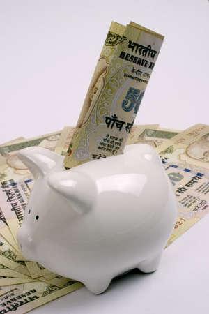 rupees: saving money Stock Photo