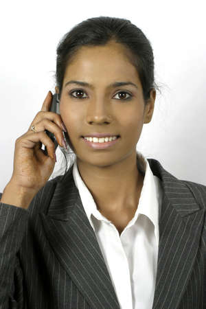 young indian woman calling on phone