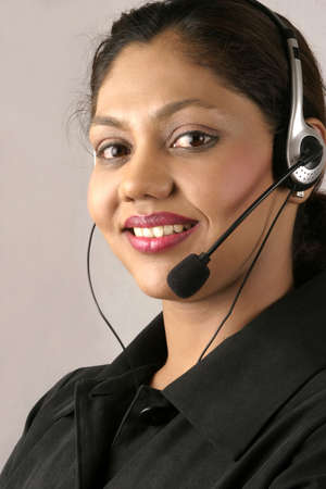 young indian at call centre photo