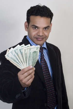 Successful Indian with money