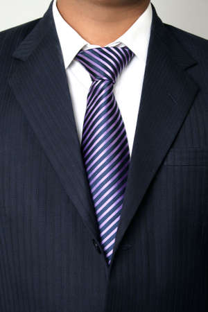 Businessman standing close up