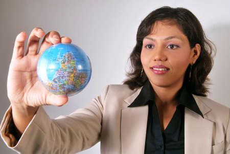 Successful Indian woman with global business vision