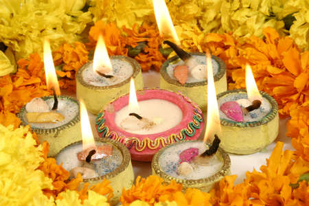 diyas: Diwali, festival of lights Stock Photo