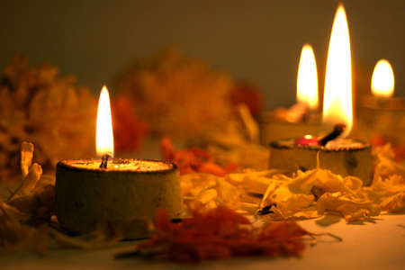 diyas: Diwali, festival of lights, traditional Indian