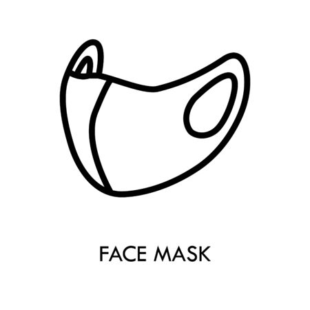 Medical face mask icon, disease prevention. Protection wear from coronavirus, Virus, Dust Protection for Hospital or pollution protect gear