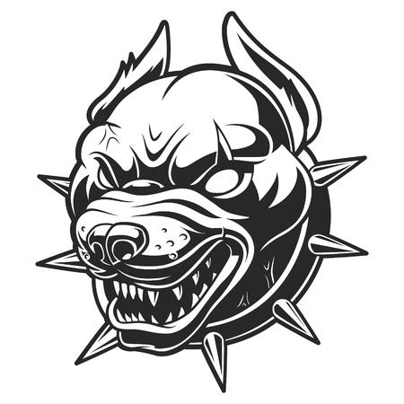 Pitbull vector illustration on white background Illustration