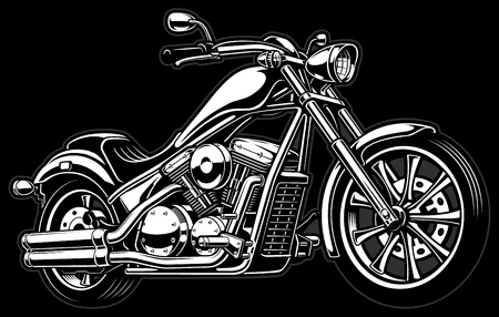 Vintage chopper illustration.