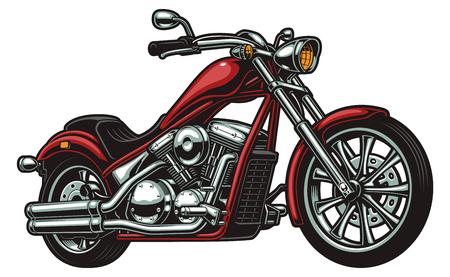 Vektormotorrad auf weißer Hintergrundillustration. Vektorgrafik