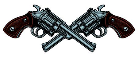 Vector illustration with guns. Vettoriali