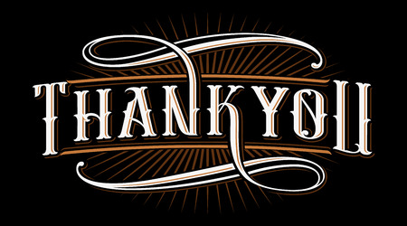 Thank you lettering illustration. Illustration