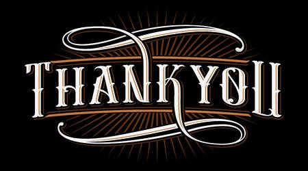 Thank you lettering illustration. Ilustração