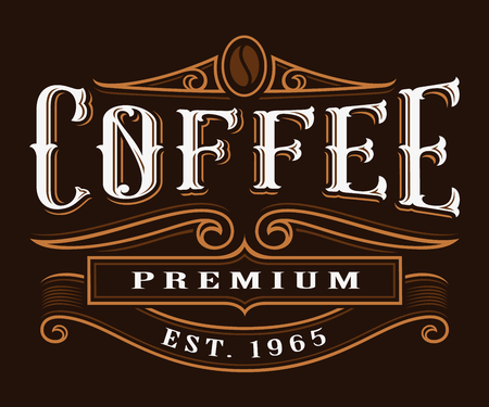 Coffe vintage label.