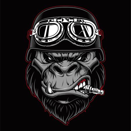 Gorilla biker mascot. Фото со стока - 103775573