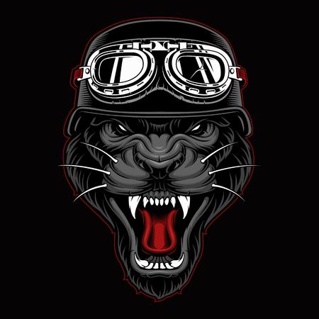 Panther Biker Mascot