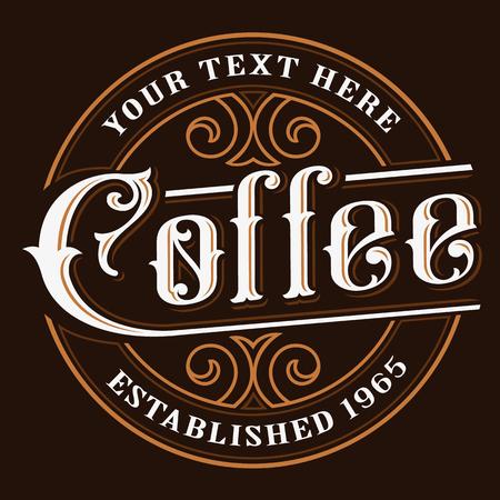 Coffe logo design. Ilustração