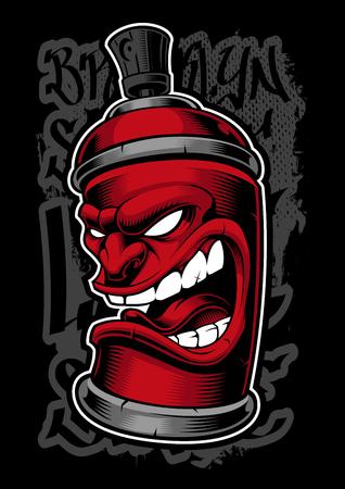 Graffiti spray monster.