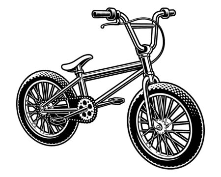 Vector illustration of a bmx bicycle on white background Illustration