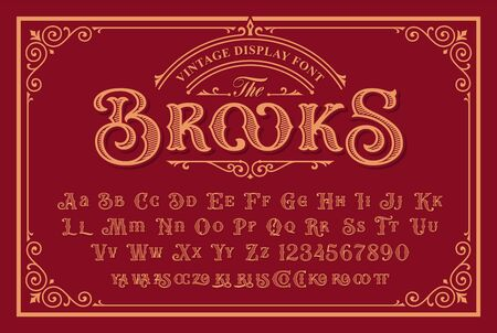 A Vintage Font with upper and lower case, numbers, and special ligatures as well. It is perfect for logo and packaging design, short phrases, or headlines.