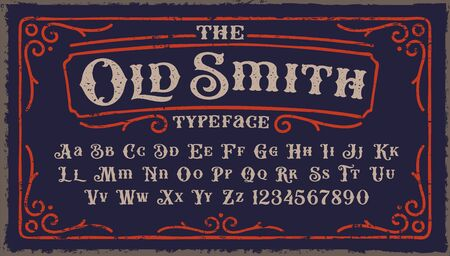 A Vintage Rough Font with upper and lower case and numbers as well. It s perfect for packaging, logos posters, and many other purposes