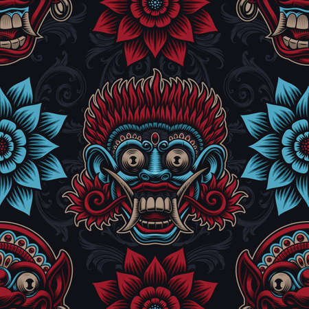 A seamless background for Asian theme Ilustrace