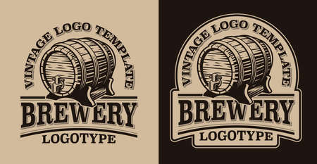 A black and white vintage emblem for beer theme