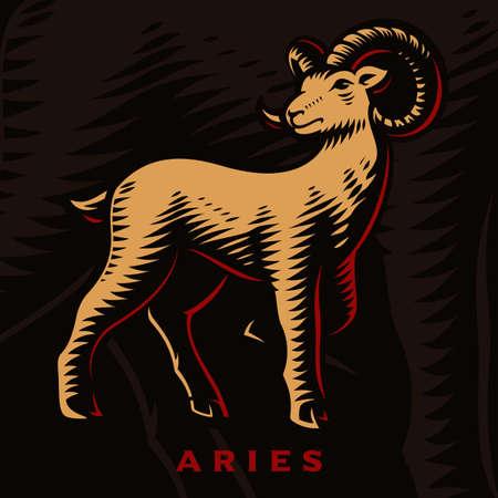 A vector illustration of Aries zodiac sign 矢量图像