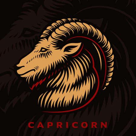 A vector illustration of Capricorn zodiac sign 矢量图像