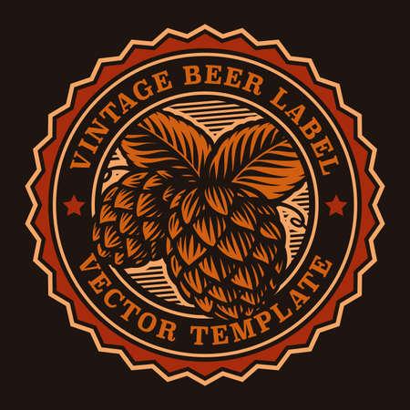 A colorful vintage beer emblem