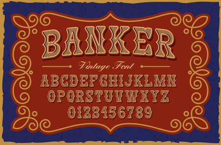 A vintage serif font in western style, this font can be used for many creative products such as posters, emblems, alcohol labels, packaging and many other uses