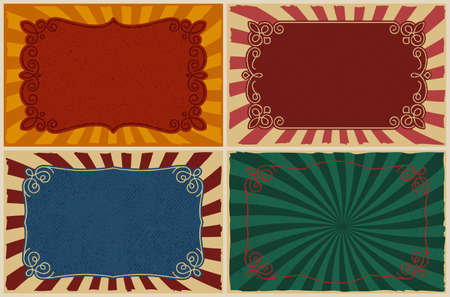 A set of different vintage backgrounds, these design can be used as templates for posters, restaurant menu, and for many other uses