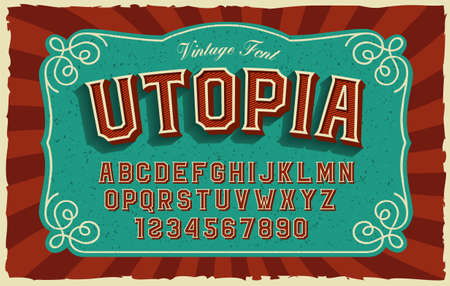 A bold sans-serif font in vintage style, this font can be used for many creative products such as posters, emblems, alcohol labels, packaging, and many other uses