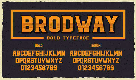 A bold sans-serif font in 2 styles regular and grunge. This font can be used for emblems or headlines, as well as for many other uses.