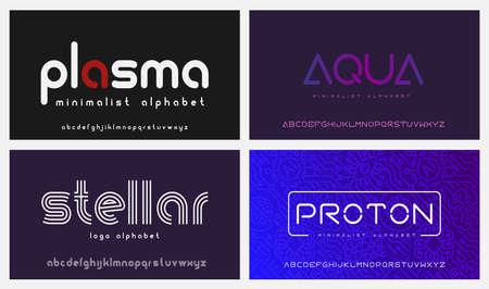 A set of modern fonts, these fonts are perfect for short phrases or headlines and can be used as emblems for companies in such niches as artificial intelligence, cloud computing, gene engineering, and many others