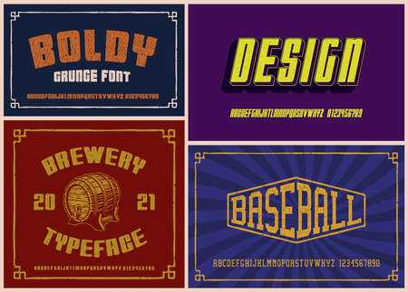 Vintage fonts bundle, these fonts work well for short phrases and headlines.