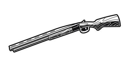 Double Barreled Gun vector illustration isolated on white background