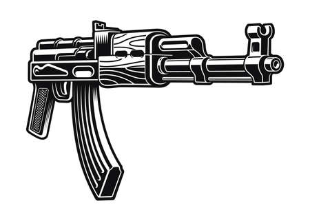 rifle vector illustration isolated on white background 矢量图像