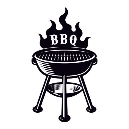 BBQ grill vector illustration isolated on white background