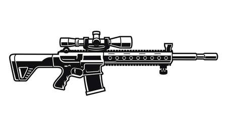 a sniper rifle vector illustration isolated on white background