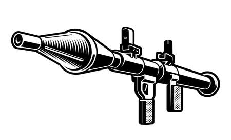 grenade launcher vector illustration isolated on white background
