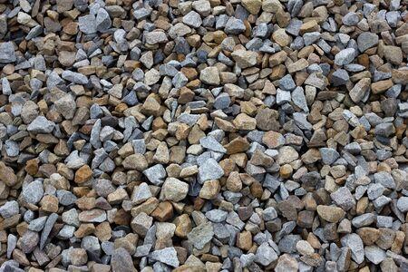texture de pierre concassée colorée. Grosse pierre concassée.