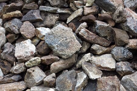 texture of cobblestone. Large stone. Mound of cobblestone.