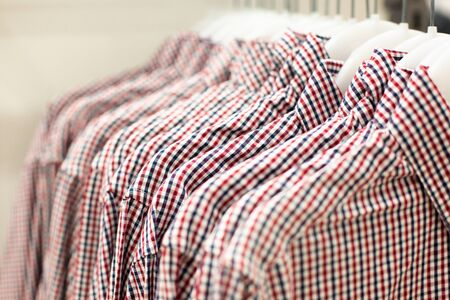 shirt by trempel in the boutique , shop classic clothing. Natural shirt on the trempel in the boutique close-up